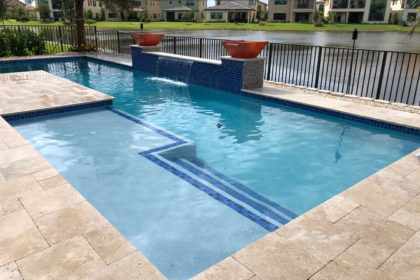 Straight Line Pool Design