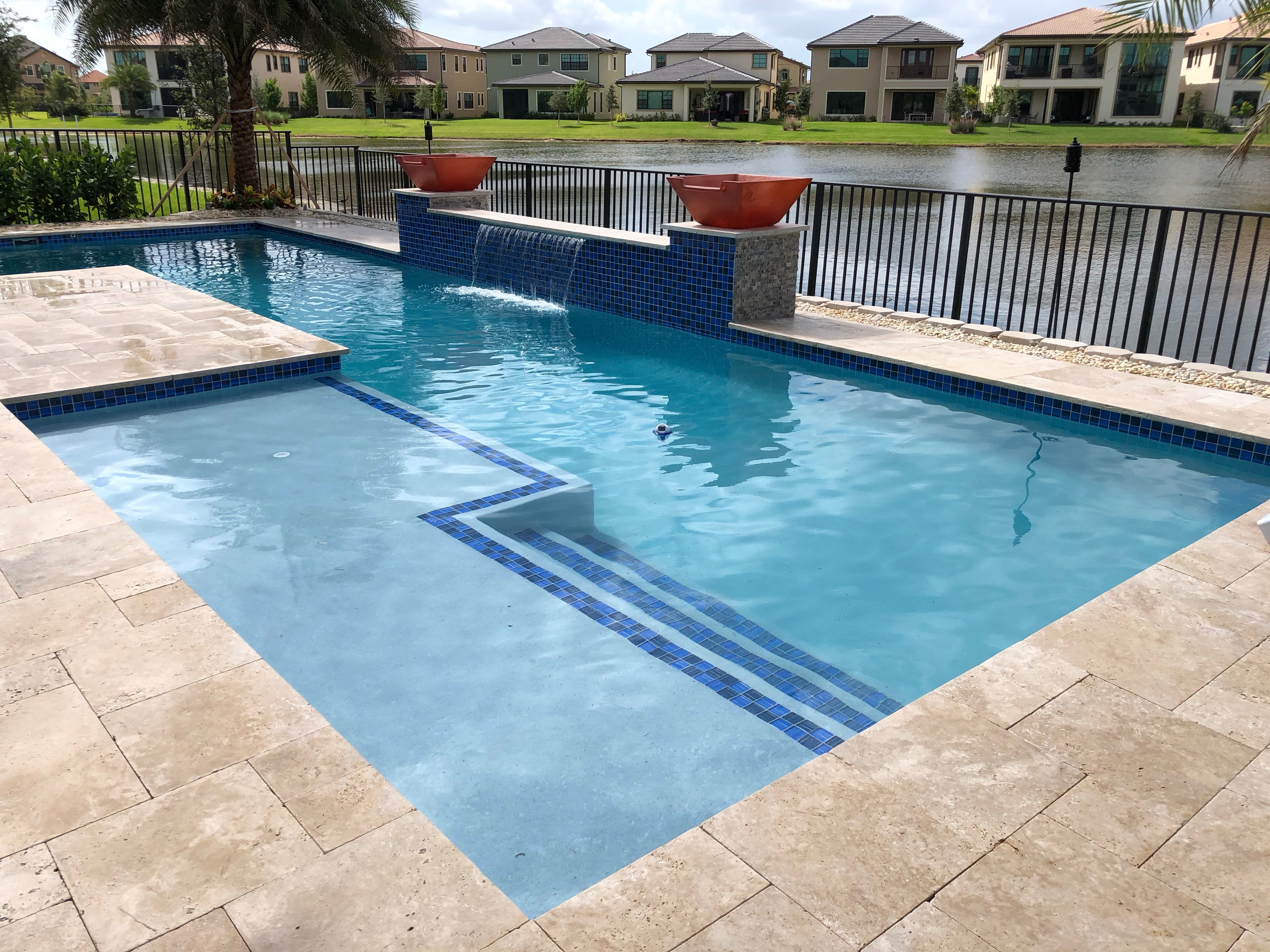 Straight Line Pool Design – AQUA FRESH POOLS